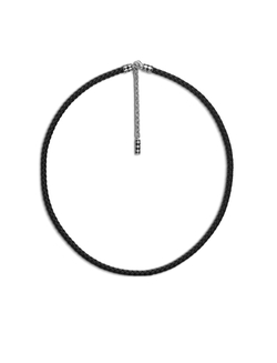 Dot Collection - Dot Woven Leather Necklace