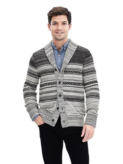 Banana Republic - Graphic Cardigan Sweater