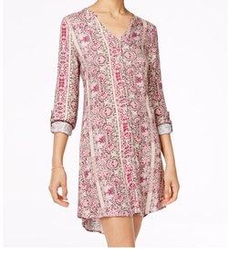 American Rag - Printed Lace-Up-Back Shirtdress