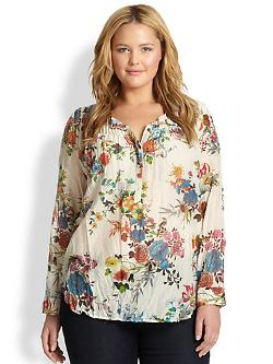 Johnny Was - Pintuck Floral Blouse