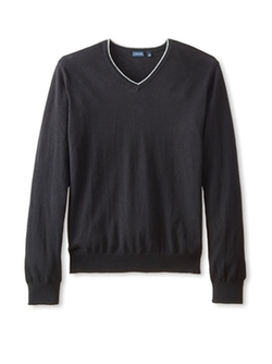 Thirty Five Kent - Brushed Cotton V-Neck Sweater