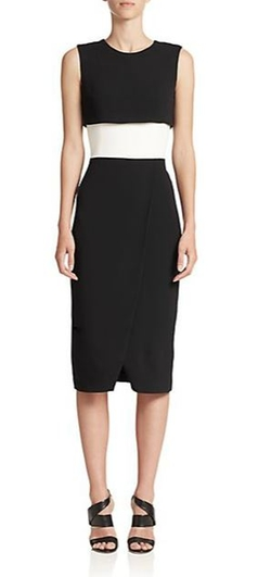 Narciso Rodriguez  - Layered Inset Crepe Dress
