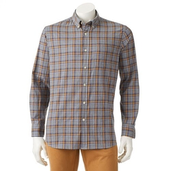Sonoma Life + Style - Plaid Poplin Button-Down Shirt