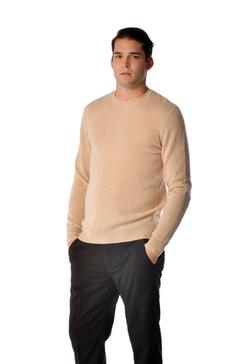 Cashmere Boutique - Pure Cashmere Crew Neck Spring Sweater