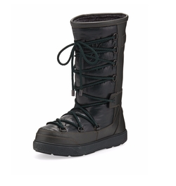 Moncler - Laetitia Leather Lace-Up Boots