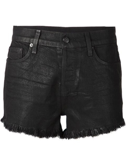 Ksubi - Fringed Denim Shorts