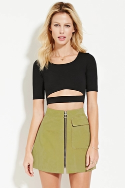 Forever 21 - Cutout Crop Top