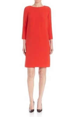 Escada - Draped-Back Shift Dress