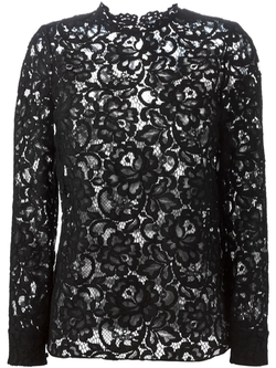 Saint Laurent   - Floral Lace Blouse