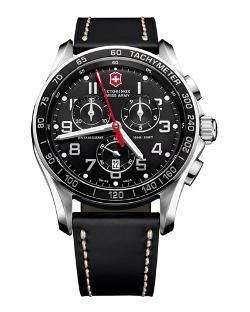 Victorinox Swiss Army	 - Classic Chronograph Leather Watch