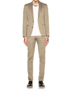 Maison Margiela - Slim Fit Wool Linen Herringbone Suit