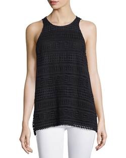 Vince - Embroidered-Lace Cotton Tank