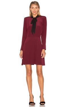 The Kooples - Long Sleeve Tie Neck Dress