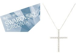 Dee Berkley  - Swarovski Zirconia Total Cross Pendant Necklace