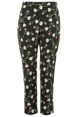 Topshop - Woodland Floral Print Cigarette Pants