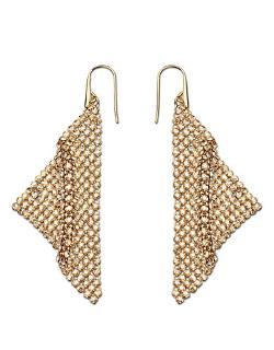 Swarovski  - Fit Gold Tone And Crystal Drop Earrings