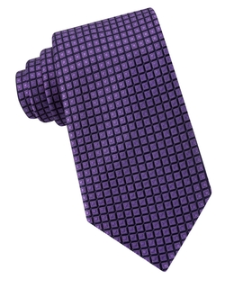 Michael Kors - Box-Pattern Silk Tie