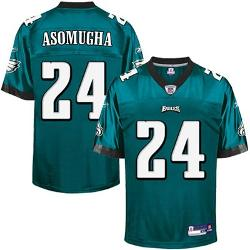Reebok  - Nnamdi Asomugha Philadelphia Eagles Replica Jersey - Midnight Green