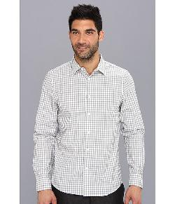 Perry Ellis - Slim Fit L/S Ombre Large Check Shirt