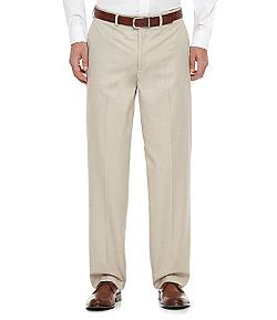 Roundtree & Yorke  - Flat-Front Travel Smart Viscose Dress Pants