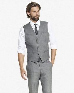 Express - Micro Twill Suit Vest