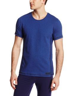 Calvin Klein  - Dual Tone Wide Neck Short Sleeve Crew Tee