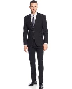 Vince Camuto - Solid Slim-Fit Suit