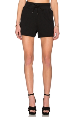 T By Alexander Wang - Top Dyed Fleece High Waisted Shorts
