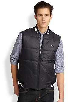 Fred Perry - Tipped Quilted Gilet Vest