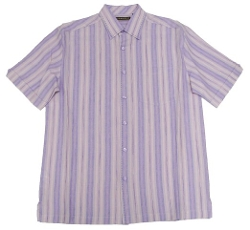 Cubavera - Stripe Yarn Dyed Textured Linen Shirt