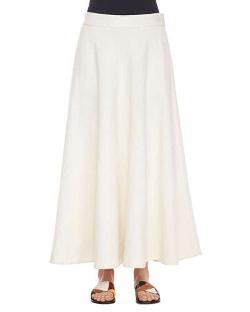 The Row - Linen Long Circle Skirt