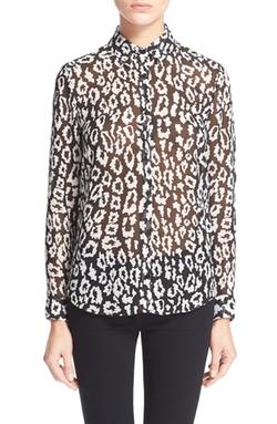 The Kooples - Leopard Print ChiffonShirt