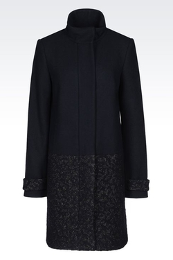 Armani Jeans - Coat In Jacquard Wool Blend