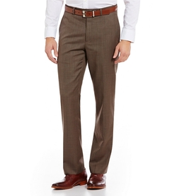 Michael Kors  - Flat-Front Wool-Blend Sharkskin Pants