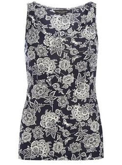 Dorothy Perkins - Navy Floral Vest Top