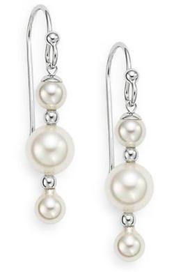 Majorica - Linear Drop Earrings