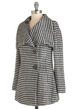 ModCloth - Carefully Chosen Coat in Houndstooth