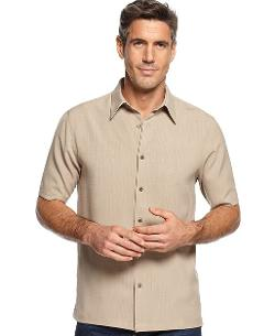 John Ashford  - Big & Tall Short Sleeve Solid Texture Shirt
