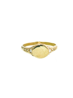 Elisa Solomon - Signet Ring With Rose Cut Diamonds