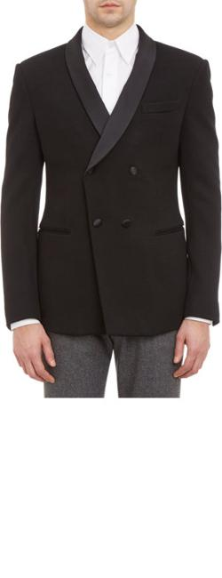 GIORGIO ARMANI SPORTSWEAR  - Jersey Double-Breasted Tuxedo Jacket