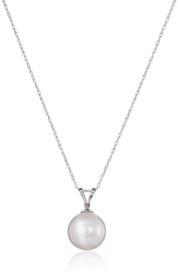 Amazon Collection - Cultured Pearl Pendant Necklace