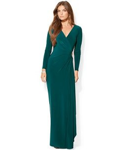 Ralph Lauren  - Long-Sleeve Embellished Gown
