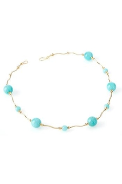 De Virgilis Collection - Amazonite/Gold Necklace