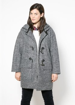 Mango - Wool-Blend Duffle Coat