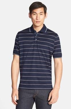 Paul & Shark -  Stripe Cotton Polo Shirt