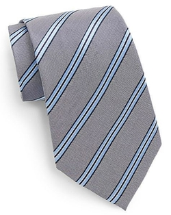 Saks Fifth Avenue  - Boxed Shadow Stripe Silk Tie