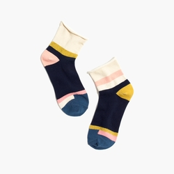 Madewell - Mismatch Bouclé Colorblock Ankle Socks