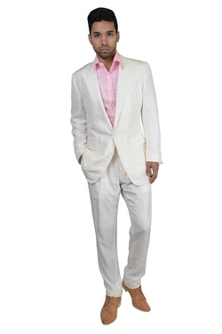 Dolce & Gabbana - Silk White One Button Suit