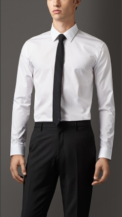 Burberry - Modern Fit Cotton Poplin Shirt