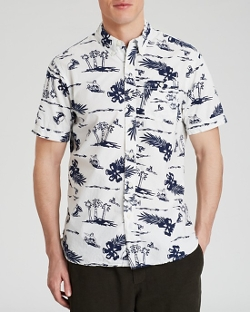 Burkman Brothers - Short Sleeve Printed Button Down Shirt